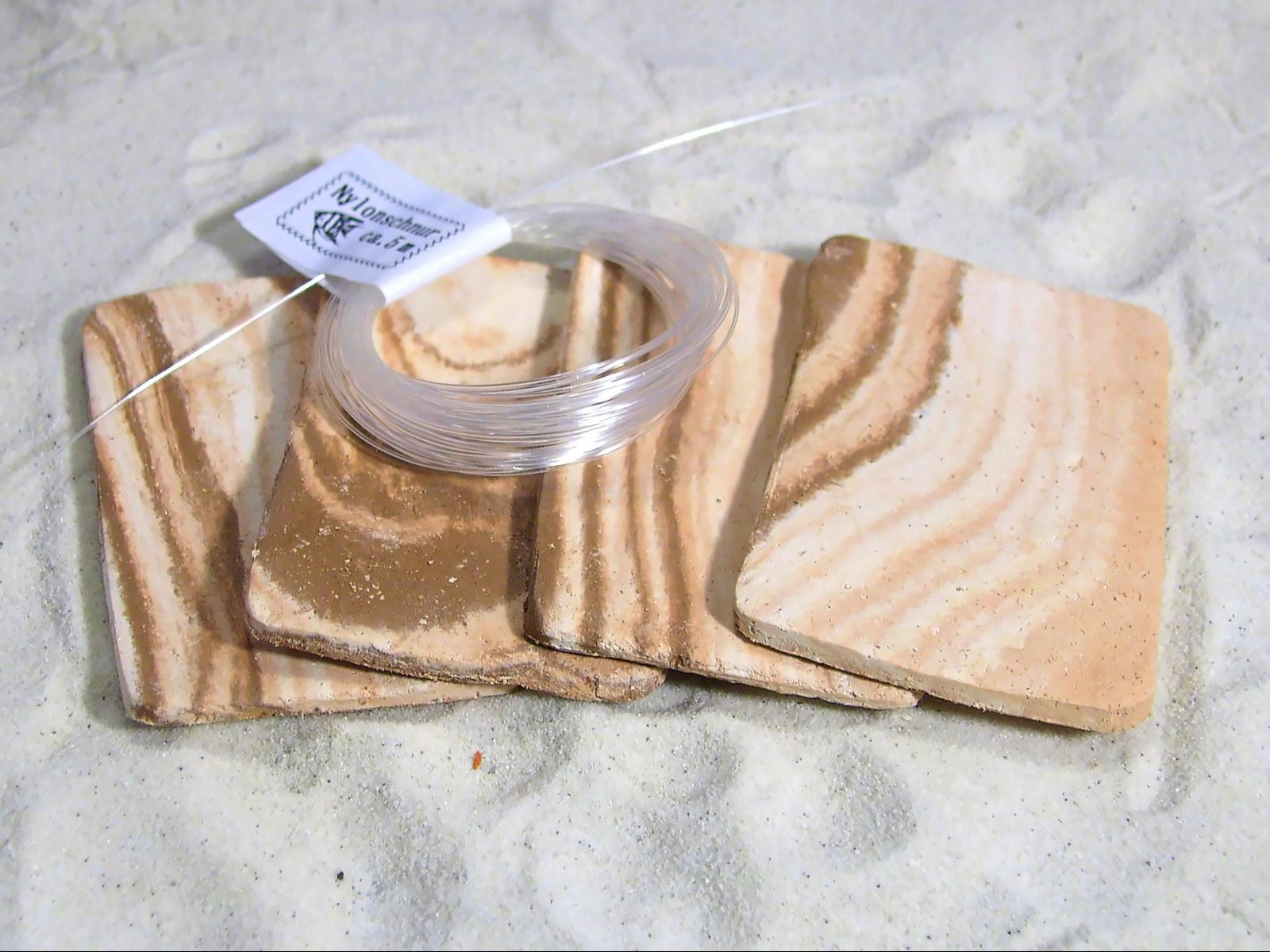Aquarium Tonrohre 4x Pflanzplatten Mamoriert Braun Weiss Ca 7x4 5cm