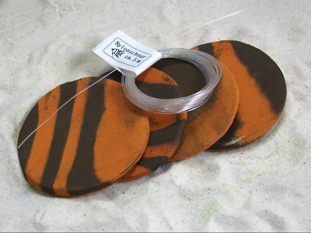 Aquarium Tonrohre 4x Pflanzplatten Terra Schwarz Ca 6 5cm Mit