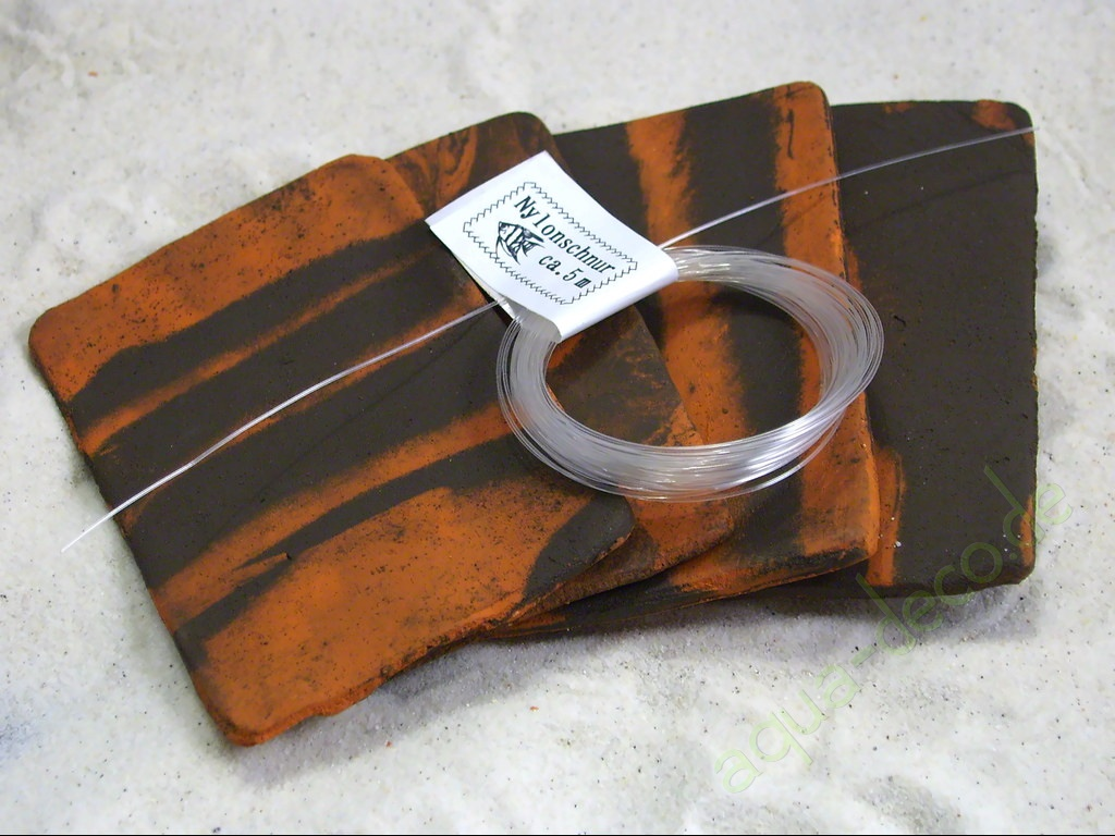 Aquarium Tonrohre 4x Pflanzplatten Terra Schwarz Ca 8x5cm Mit